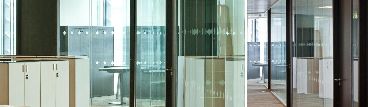 Office Partitions - Double Glazed