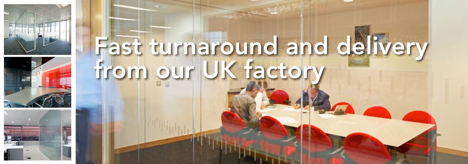 Office partitions made in the UK